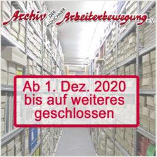 Archivdepot ab 1. Dezember 2020 geschlossen