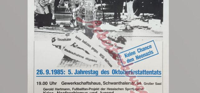 Aus dem Archiv – Gedenken an das Oktoberfestattentat